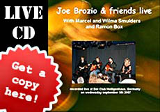 Joe Brozio Live CD